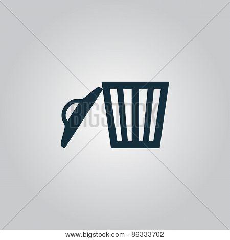 Trash can. Vector illustration