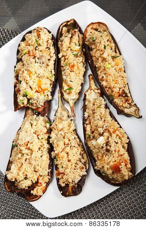 Eggplant Stuffed With Couscous