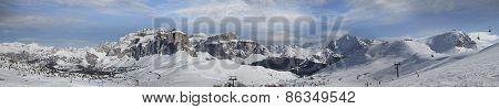 Panoramic View Of Dolomites, Italy