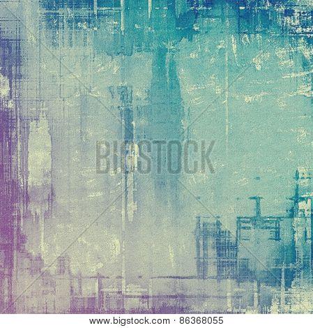 Grunge texture, Vintage background. With different color patterns: purple (violet); cyan; blue