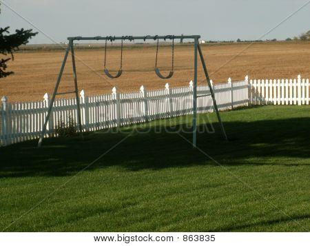Abanded swing set