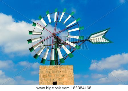 Mallorca Majorca windmill in Campos Balearic Islands of Spain poster
