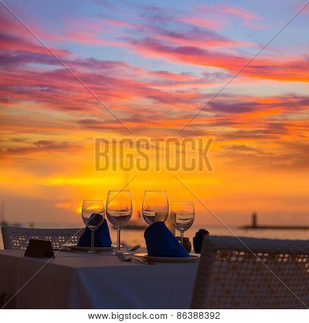 Mallorca port de Andratx sunset in Mallorca at Balearic islands of spain
