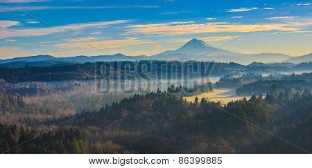 Mount Hood From Jonsrud Viewpoint