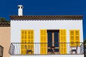 Majorca Cala Ratjada facades Rajada in Capdepera Mallorca poster