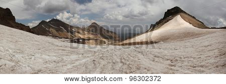 Volcanic crater of Mount Aragats (4,090 m) in Aragatsotn province, Armenia. Mount Aragats is the highest point in Armenia. poster