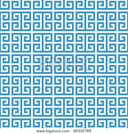 Greek Fret Meander Seamless Pattern