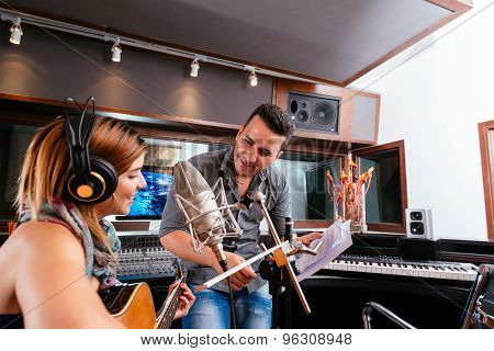 Working In The Recording Studio