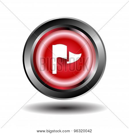 Flag icon. Flag sign buton vector