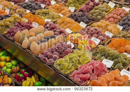 Sweets on market stall