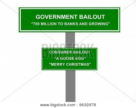 Government Bailout Concept Sign