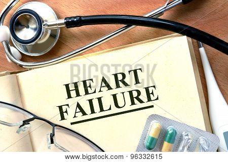 Heart failure concept.