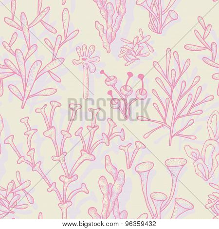 Seamless Pattern With Abstract Corals