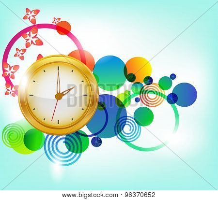Abstract Background With Clocks