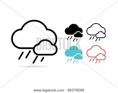 Web cloud icon. Web, Idea, Creative and Weather. Vector stock illustrations for design.