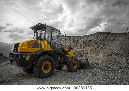 Yellow Construction Machine - Cut Out
