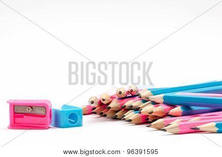 Color Pencils Whit Pencil Sharpener