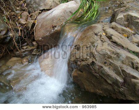 Cascade Over Rocks