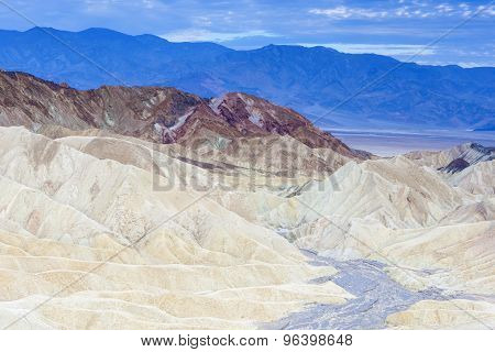Zabriskie Point National Park Located In Death Valley, California, United States Of America.