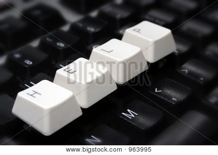 Black Keyboard, Blurred, With White Keys - Help