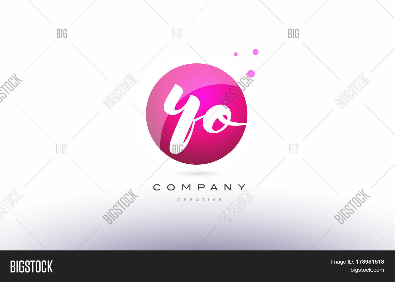 Yo y o sphere pink 3d hand written vector photo bigstock yo y o sphere pink 3d hand written alphabet letter logo buycottarizona Images