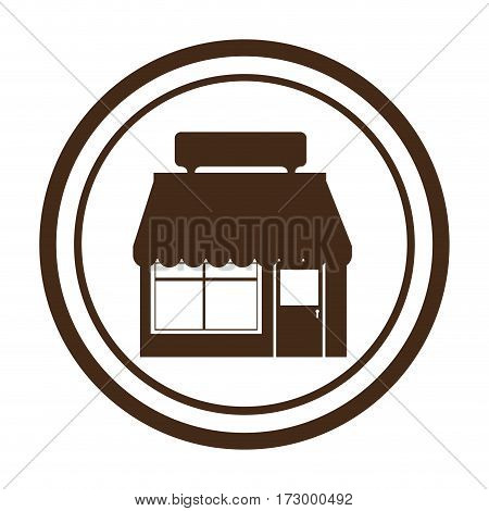 exterior store building icon vector illustration design