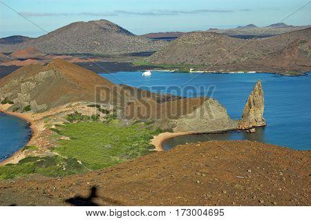 Pinnacle Rock and Sullivan Bay, Galapagos islands