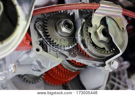 Part of a car engine