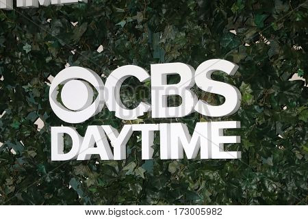 LOS ANGELES - OCT 10:  CBS Daytime Emblem at the CBS Daytime #1 for 30 Years Exhibit Reception at the Paley Center For Media on October 10, 2016 in Beverly Hills, CA