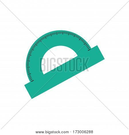 Protractor angle meter icon vector illustration graphic design