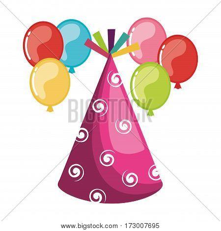 party bubbles celebration icon vector illustration design