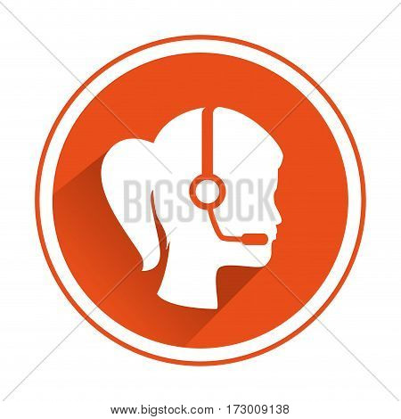 call center agent service icon vector illustration design