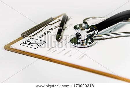 Stethoscope concept. Stethoscope isolated on white background, doctors equipment stethoscope, care health and diagnosis with stethoscope