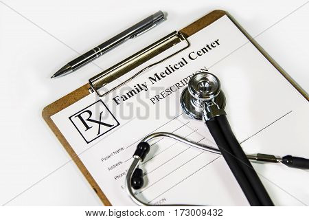 healthcare concept. healthcare medical RX prescription at doctor office. doctor healthcare medical service consultation. healthcare service.