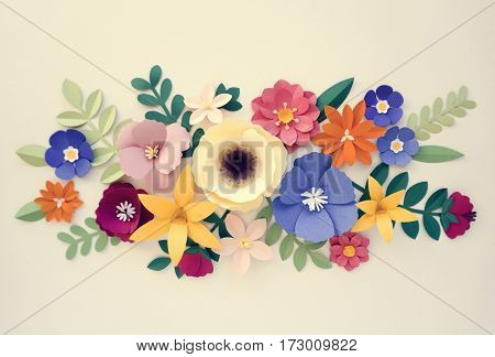 Flowers Handmade Design Papercraft Art