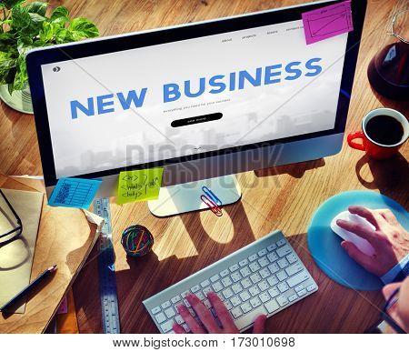 New Business Financial Enterprise Word