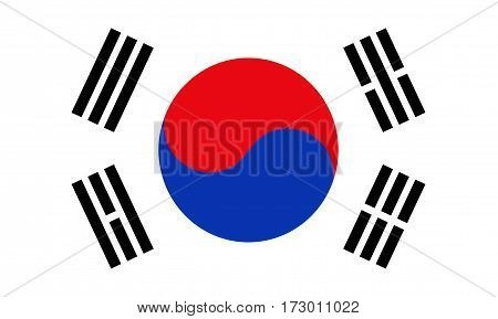 Flag of South Korea, element proportions and colors