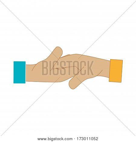 hand shake deal icon vector illustration design