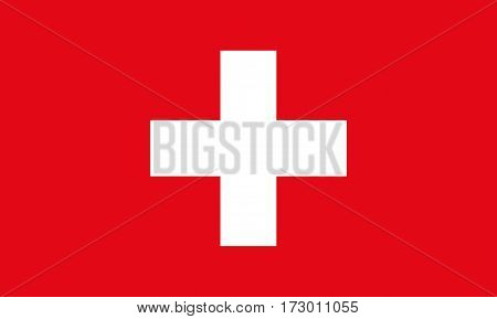 Switzerland Flag. Flag of Switzerland vector illustration