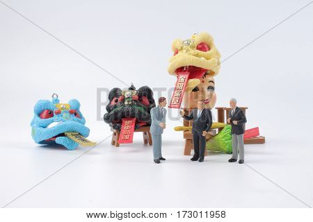 Figure Of Business Man At Lunar New Year