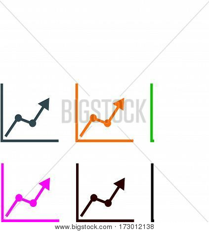 chart icon on white background. chart sign.