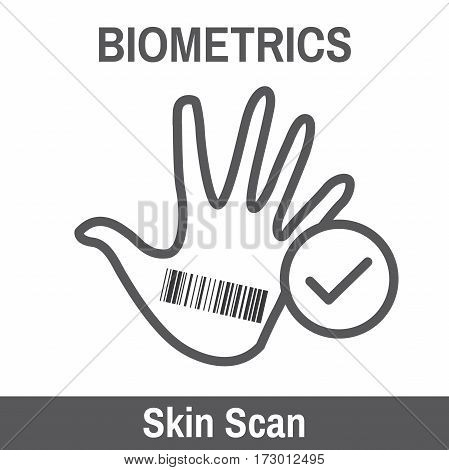 Biometric Scan - Hand or Fingerprint with checkmark