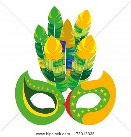 mask carnival celebration icon design vector illustration