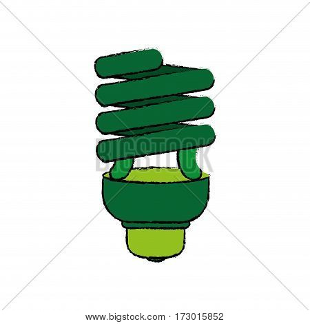Spiral bulb light icon vector illustration graphic design