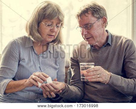 Mature Old Medication Vitamins Supplement