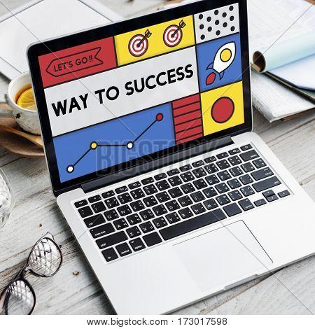 Way to Success Motivation Development Word