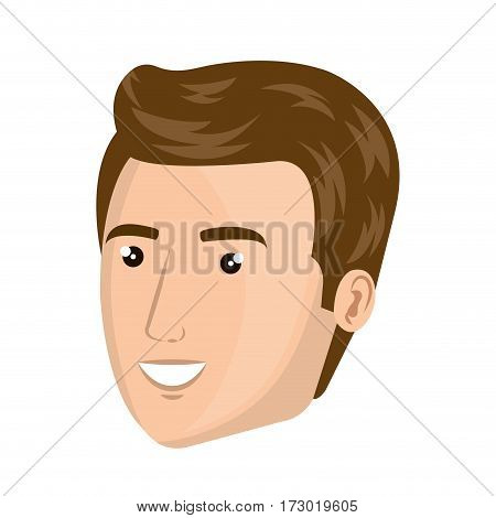 colorful silhouette side view man face vector illustration