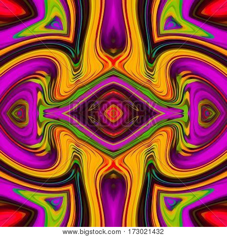pink purple yellow green red symmetry art abstract background