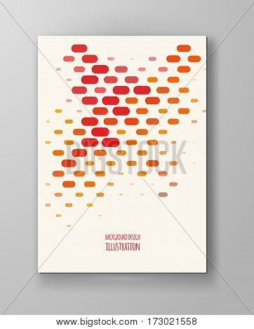 Halftones Banner. Orange color Brochure. Distress Dirty Damaged Spotted rectangle Overlay Dots Texture . Grunge Effect .