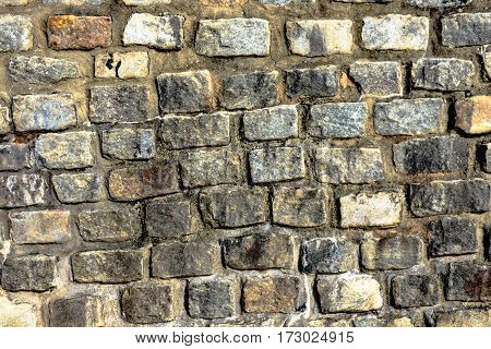 Close up of a stone wall as a background